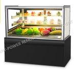 Vier versahen Glaskühlraum-Kuchen-Kühlvorrichtung-Zwischenlage-Pizza-Getränkeschaukasten mit Seiten