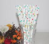 Lunares de colores de papel desechables ecológicas de paja de agua potable para la decoración de fiesta