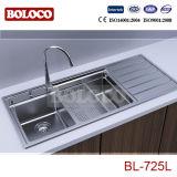 Cozinha de aço inoxidável de alta qualidade Pia Bl-725L