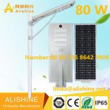 Venta de iluminación al aire libre del camino LED con el panel solar todo de la eficacia alta en un 80 luces solares de la calle LED de W