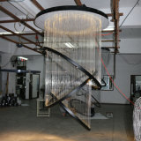Vestíbulo del hotel decoración de pasar Fibra gran lámpara pendiente redondo