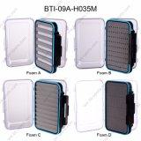 Faces duplo Tampas Clara 9 compartimentos e espumas diferentes de plástico de tamanho médio 100% impermeável Caixa Mosca grossista 09A-H035m