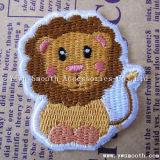 衣服の装飾のアクセサリのためのカスタム方法ライオンの動物学の刺繍パッチ
