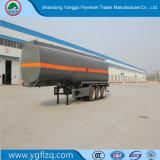 Customed 탄소 강철을%s 가진 디젤 또는 가솔린 또는 원유 수송을%s 새로운 3개의 차축 유조선 또는 반 탱크 트레일러