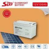nachladbare Sonnenenergie-Batterie des Gel-12V100ah für Sonnensystem