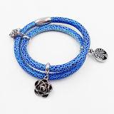 Hete Verkoop Manta Ray Leather Bracelet met Naar maat gemaakte Charmes