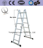 Big Hinge Aluminum Multi Purpose Ladders 4X3 Steps