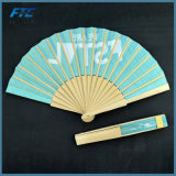 Ventilatore su ordinazione piegante della mano di marchio dei ventilatori tenuto bambù promozionale su ordinazione