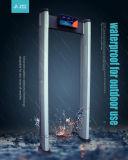 6 zonas de protecção IP65 Caminhada exterior através de detectores de metal
