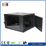 Single section barrier Mounted network Cabinet with Arc Edge