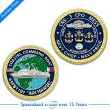 OEM古代海軍記念品の挑戦は軍の金貨を記念する
