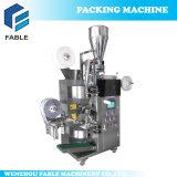 Entièrement automatique et intérieure et extérieure sachet de thé avec filetage et l'étiquette fabricant de machine d'emballage de la machine (FA-TEA15)