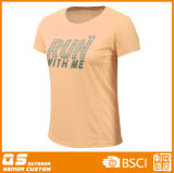여자의 달리는 스포츠 빠른 건조한 t-셔츠