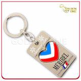 Kundenspezifische Qualitäts-weiches Decklack Debossed Firmenzeichen-Metall Keychain