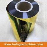 Aluminium d'or gravant le clinquant vide inaltérable