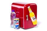 O mini litro inovativo DC12V do refrigerador 4, AC100-240V para refrigerar e aquecer-se aplica-se