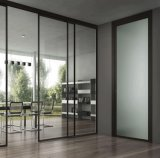 China-bester flacher Rand-freier sich hin- und herbewegender schiebender ausgeglichener Wohnzimmer-Tür-Glas-Großverkauf