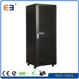 "19 "" Equipments Network Rack Cabinet를 위한 Polish Surface를 가진 유리제 Door Server Rack"