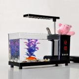 Tanque de peixes Desktop do aquário do USB mini com vaso do lápis