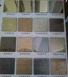 Placa de acero grabada cubierta color del SUS