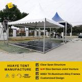 5X5m Outodor園遊会のための床張りのアルミニウムフレームの塔のテント