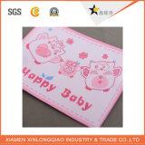 Escritura de la etiqueta tejida ropa de encargo de encargo de la ropa del paño de la impresión de la etiqueta engomada de la ropa