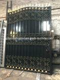 Puerta galvanizada caliente modificada para requisitos particulares alta calidad del hierro labrado