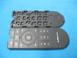 PU Coated Silk Screen Elastic Rubber Silicone Keypad für Audio Equipment