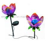 철 예술 꽃 정원 태양 램프