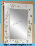 Espejo de aluminio de 3m m / espejo de plata / espejo de cristal / espejo teñido / espejo del flotador / espejo claro / espejo de vestir