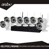 cámaras de vigilancia sin hilos del hogar de la seguridad del CCTV del kit del IP NVR de 8CH 720p