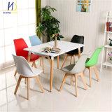 Commerce de gros de la jambe de bois coloré éponge douce Coussin de siège côté Tulip chaise en plastique
