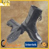 黒い本物牛革式のブートの軍の戦闘用ブーツ