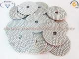 Tampone a cuscinetti per lucidare bianco per uso a secco e bagnato del granito