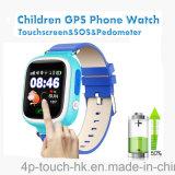 L'écran tactile de vente chaud badine la montre de GPS avec la fonction de SOS (D15)