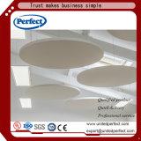 Plafond incurvé acoustique de fibre de verre suspendu par cloison de vente chaude