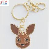 Forma de Conejo de alta calidad personalizados Llavero de metal