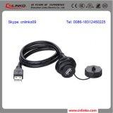 Panel-Montierung USB-Verbinder-wasserdichte Schutzkappe/USB2.0 imprägniern Verbinder