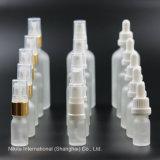 Bottiglia di olio di vetro trasparente glassata con il contagoccia bianco, bottiglia del contagoccia (NBG23G)