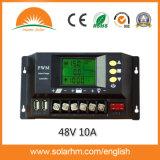 (HM-4810A) regulador solar de 48V 10A LCD para el sistema eléctrico solar