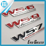 Custom Red Chrome Metal Car Names e logotipo emblema