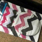 Insieme acrilico di lusso della moquette delle coperte delle stuoie di bagno dell'hotel del cotone di Microfiber, con il tovagliolo di bagno della tenda di acquazzone