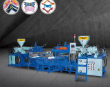 Три цветных ПВХ верхний/единственной/Газа машины литьевого формования