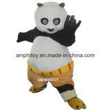 Costume animale della mascotte del panda molto popolare di Kungfu per usura