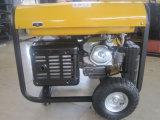 5kw/5kVA/5000w de cilindro único gerador a gasolina com pega & RODAS