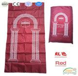 Poliéster baratos portátil impermeable islámico musulmán orar alfombra