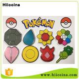 Pasador de la fabricación de moldes al por mayor de las insignias ninguna tarifa personalizada Pokemon figura