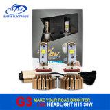 Lampadine dorate del faro del CREE LED di Evitek G3 30W 3000lm H11 per le automobili