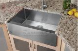 Edelstahl-einzelne Filterglocke-Schutzblech-Vorderseite-handgemachte Küche-Wanne