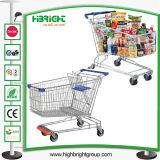 赤ん坊のシート(HBE-A-150)が付いている150Lスーパーマーケットの金属のショッピングトロリー